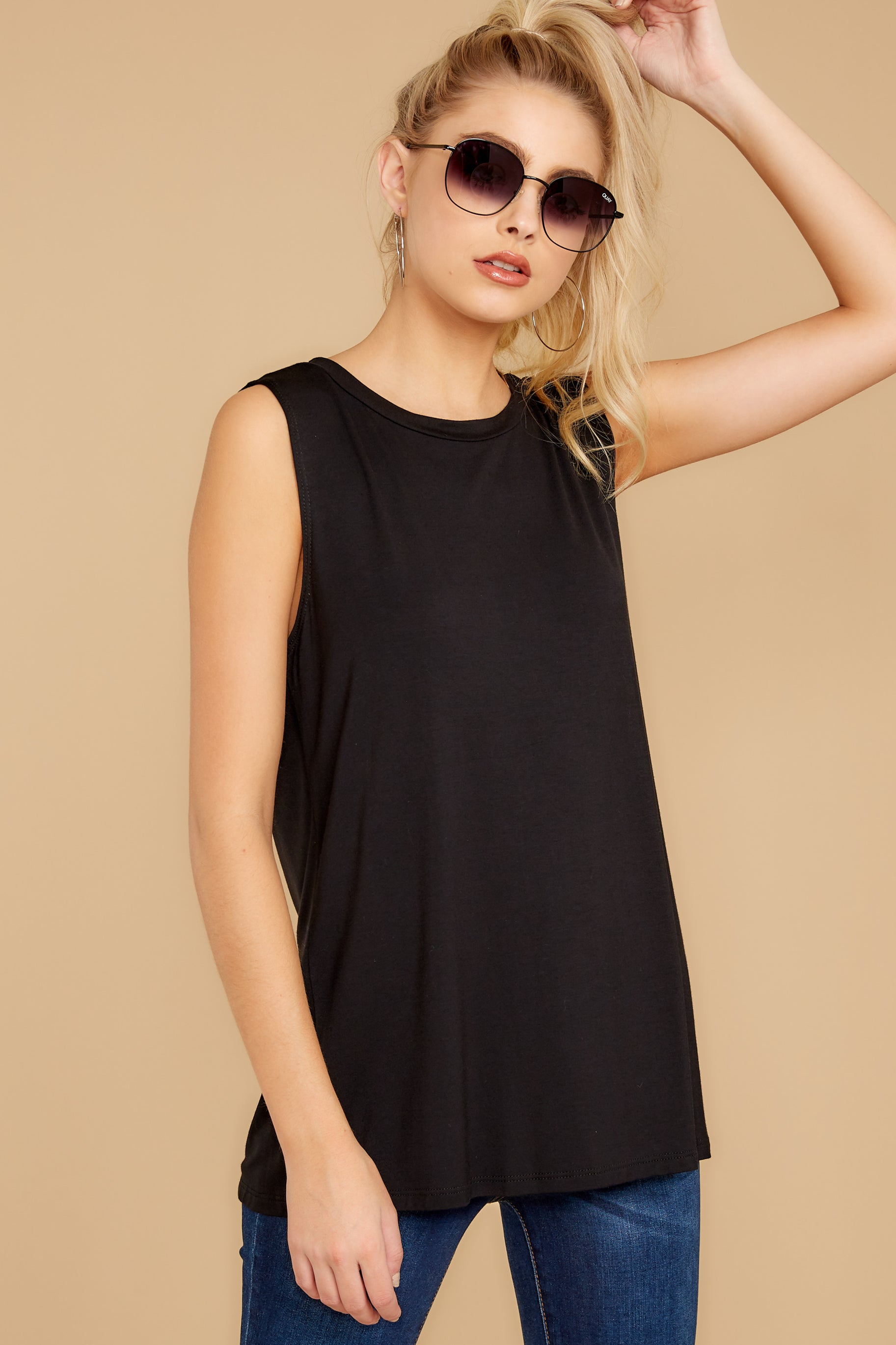 2 To Say The Least Black Top at reddressboutique.com