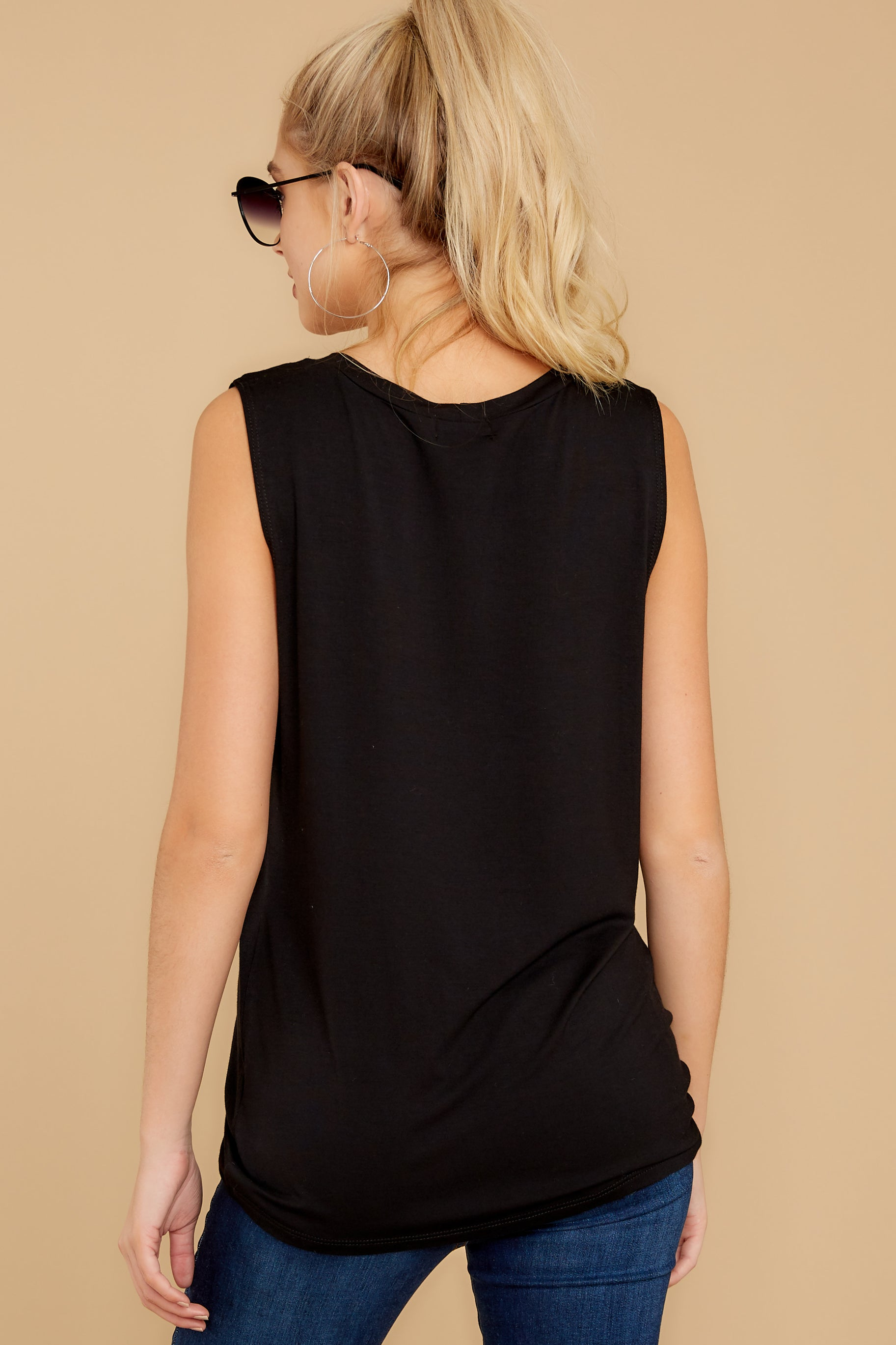4 To Say The Least Black Top at reddressboutique.com