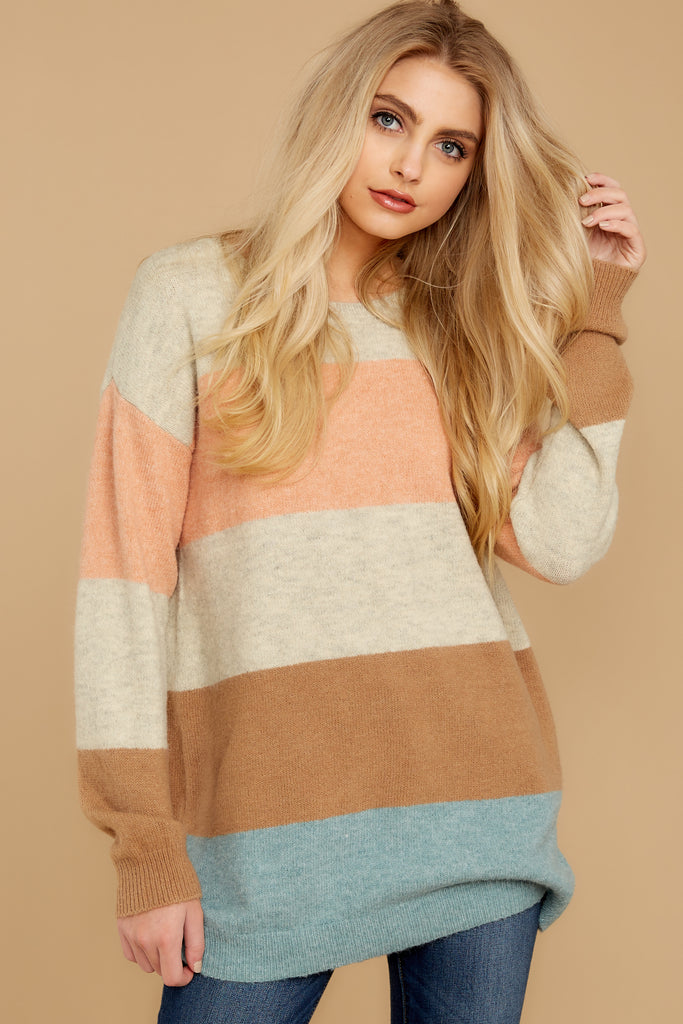 1 Will You Stay Ivory And Caramel Sweater at reddress.com