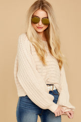 4 As I Am Sand Beige Sweater at reddressboutique.com