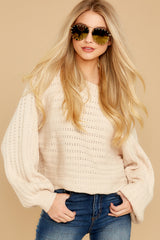 7 As I Am Sand Beige Sweater at reddressboutique.com