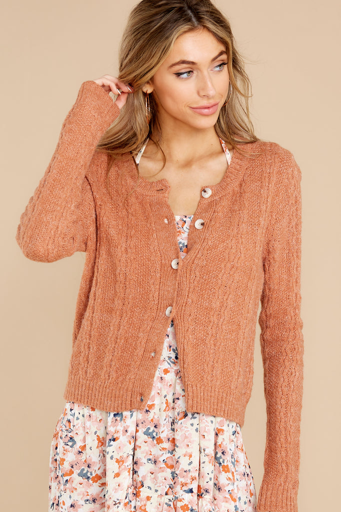 1 Never Ending Days Cinnamon Sweater at Red Dress