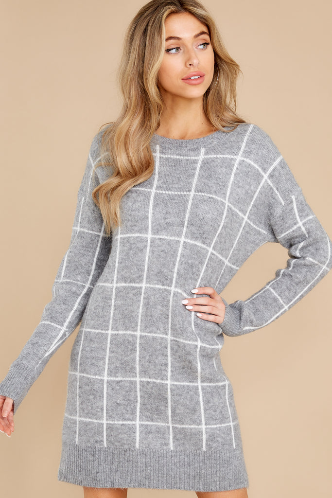 1 Movers And Shifters Charcoal Sweatshirt Dress at reddress.com
