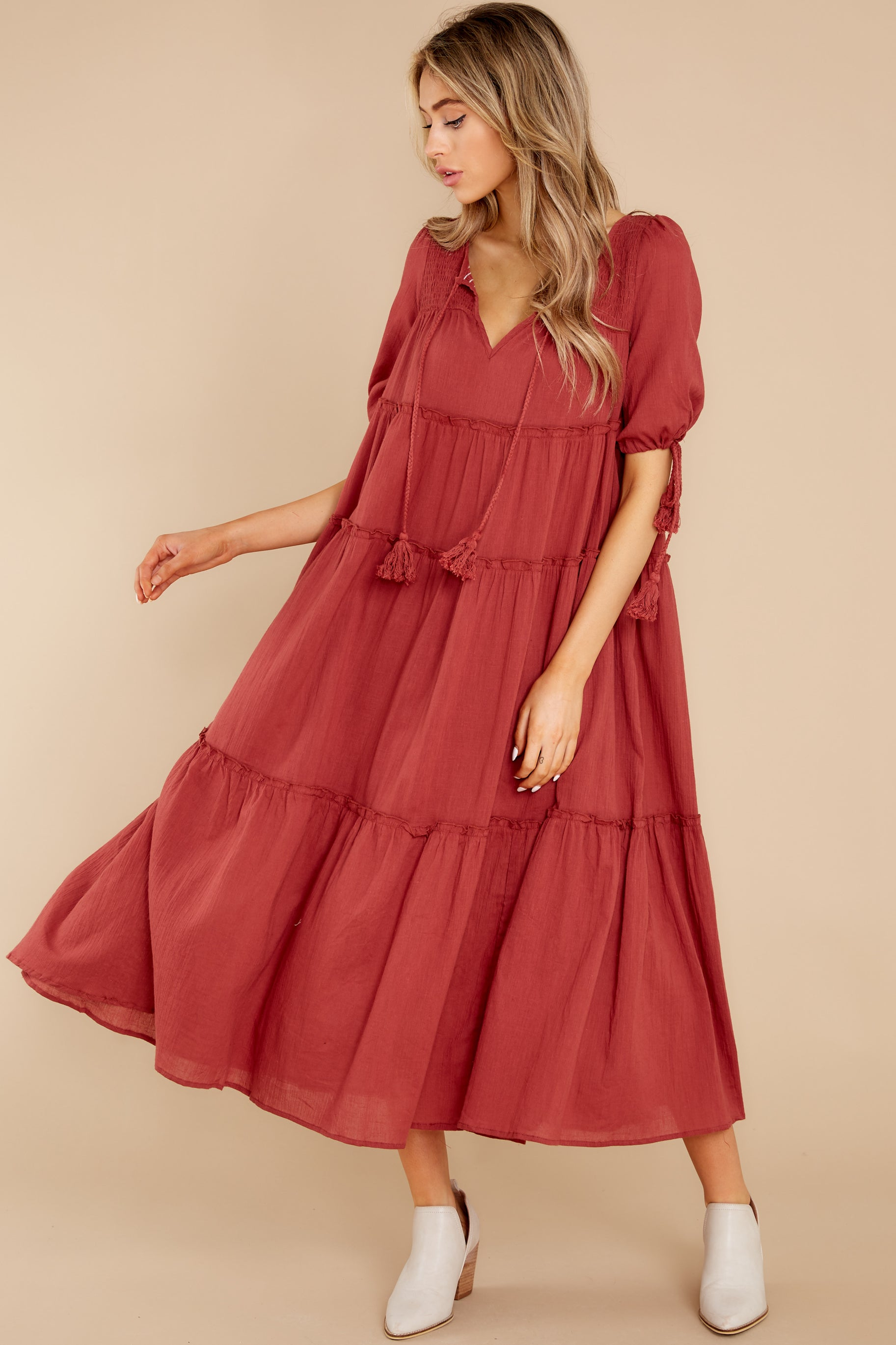 3 Isn't She Lively Wine Maxi Dress at reddress.com