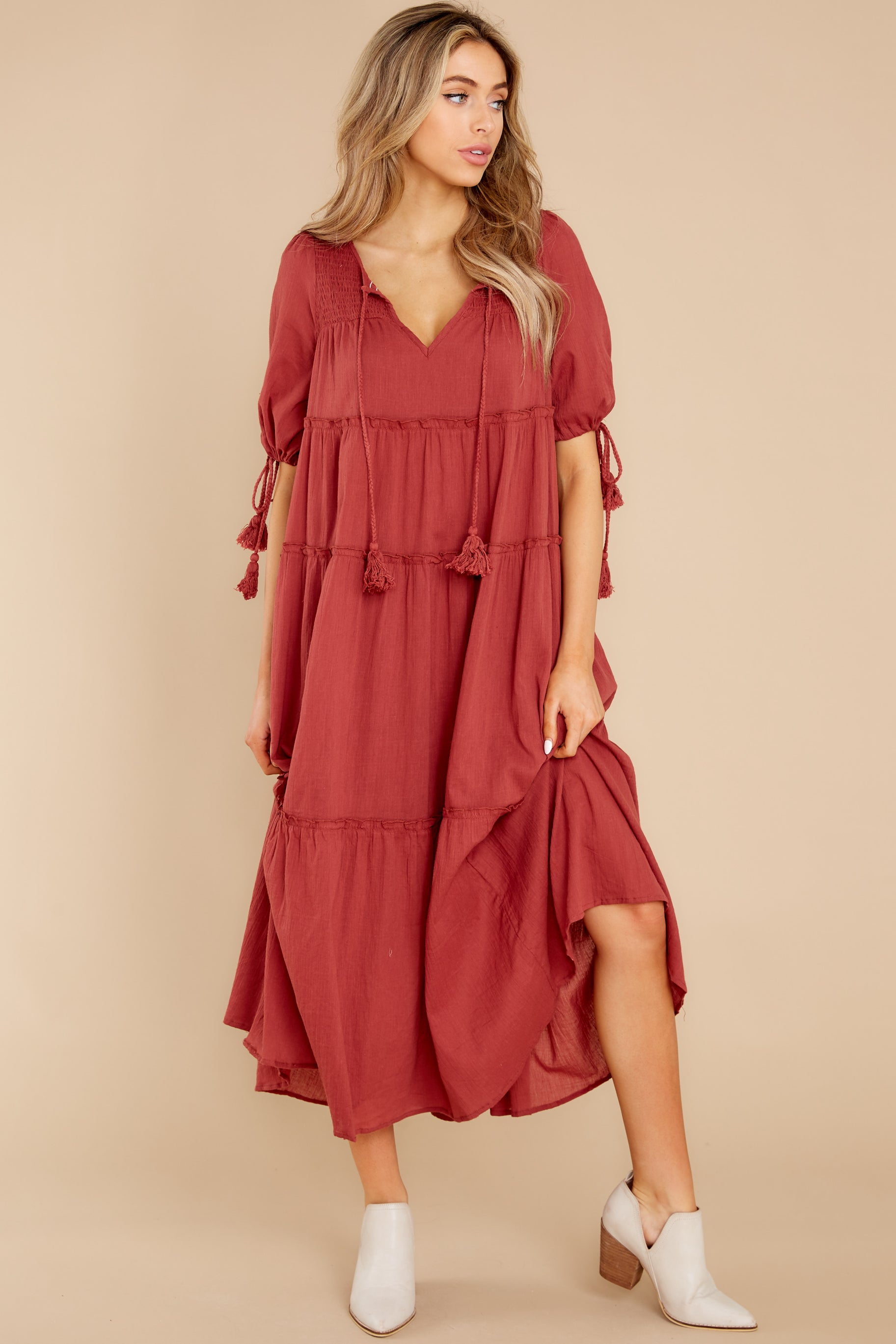2 Isn't She Lively Wine Maxi Dress at reddress.com