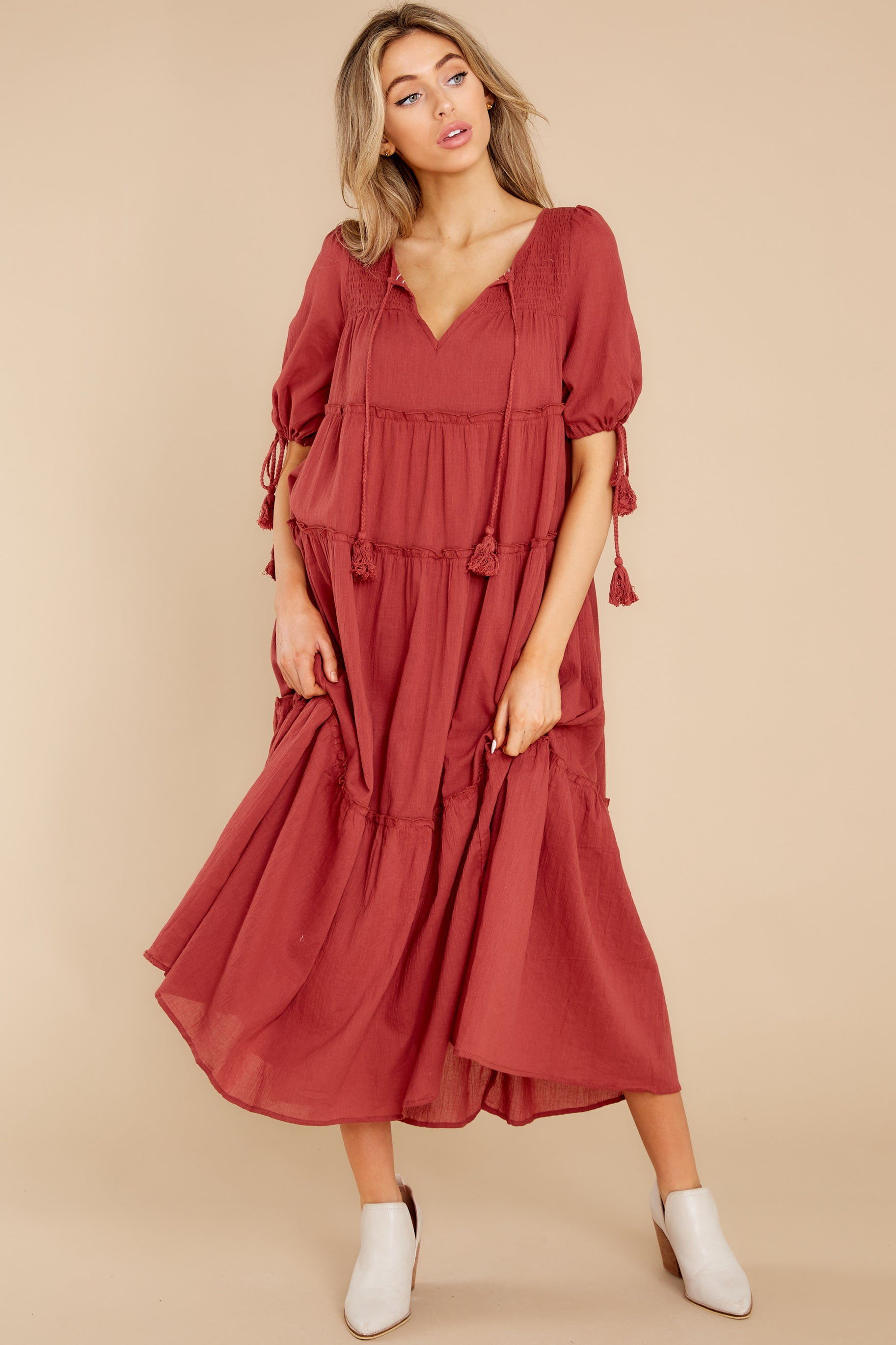 5 Isn't She Lively Wine Maxi Dress at reddress.com