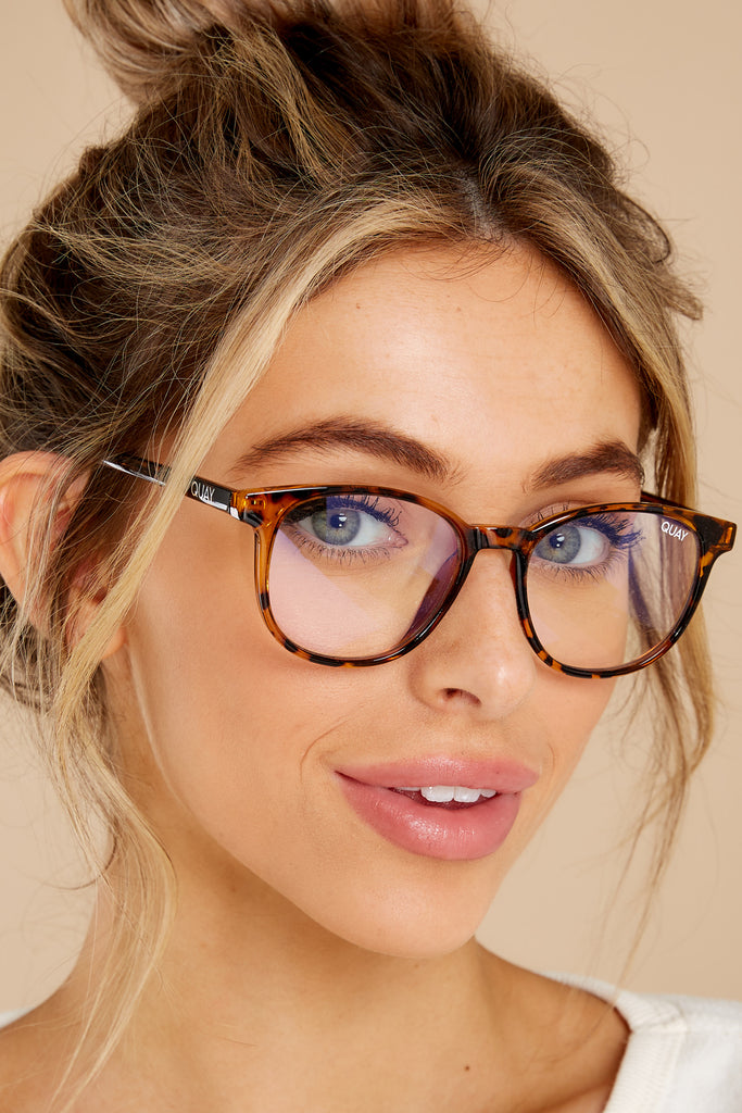 1 Blueprint Tortoise Clear Blue Light Glasses at reddress.com