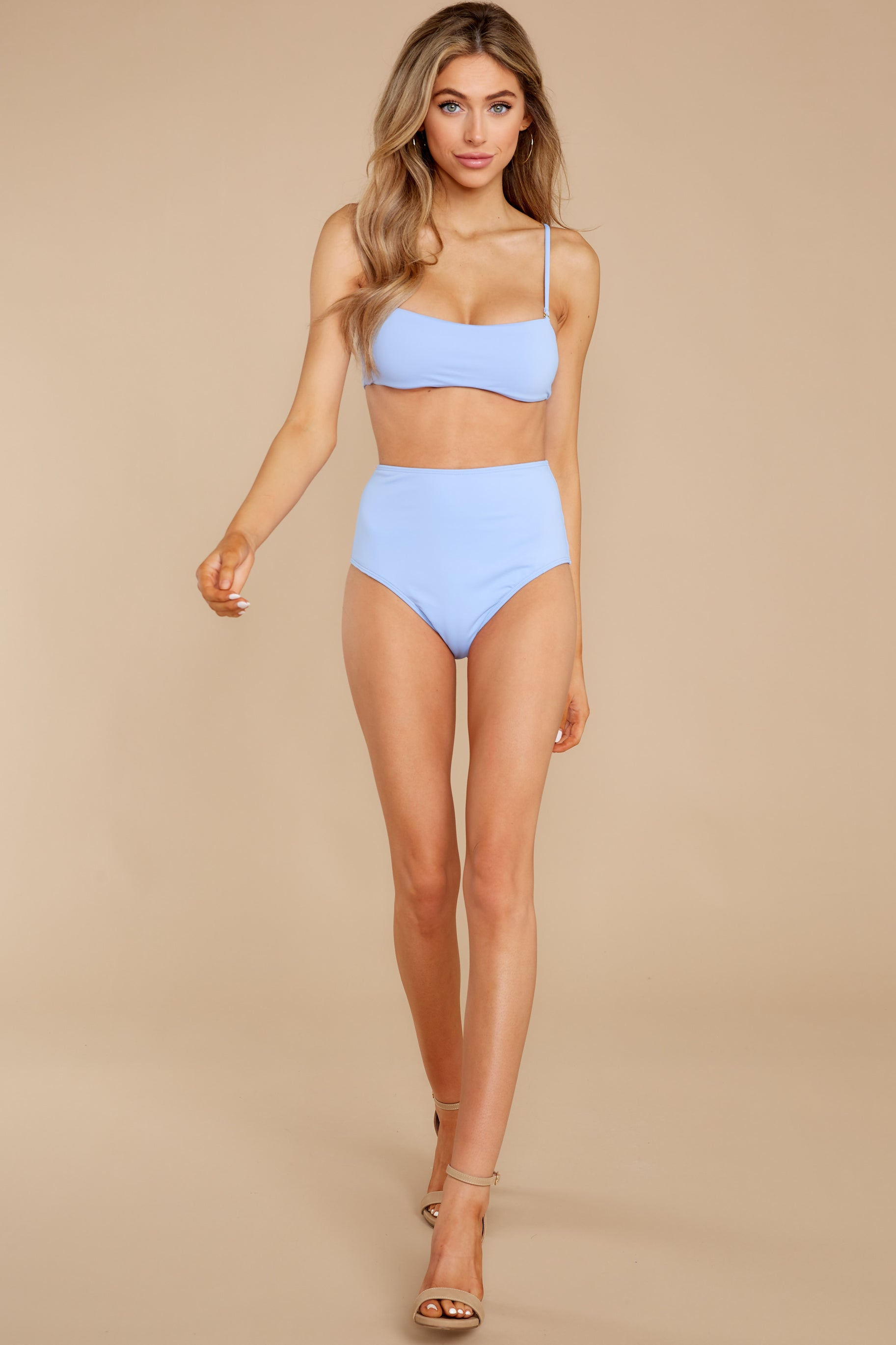 3 Catch The Tide Sky Blue Bikini Top at reddress.com