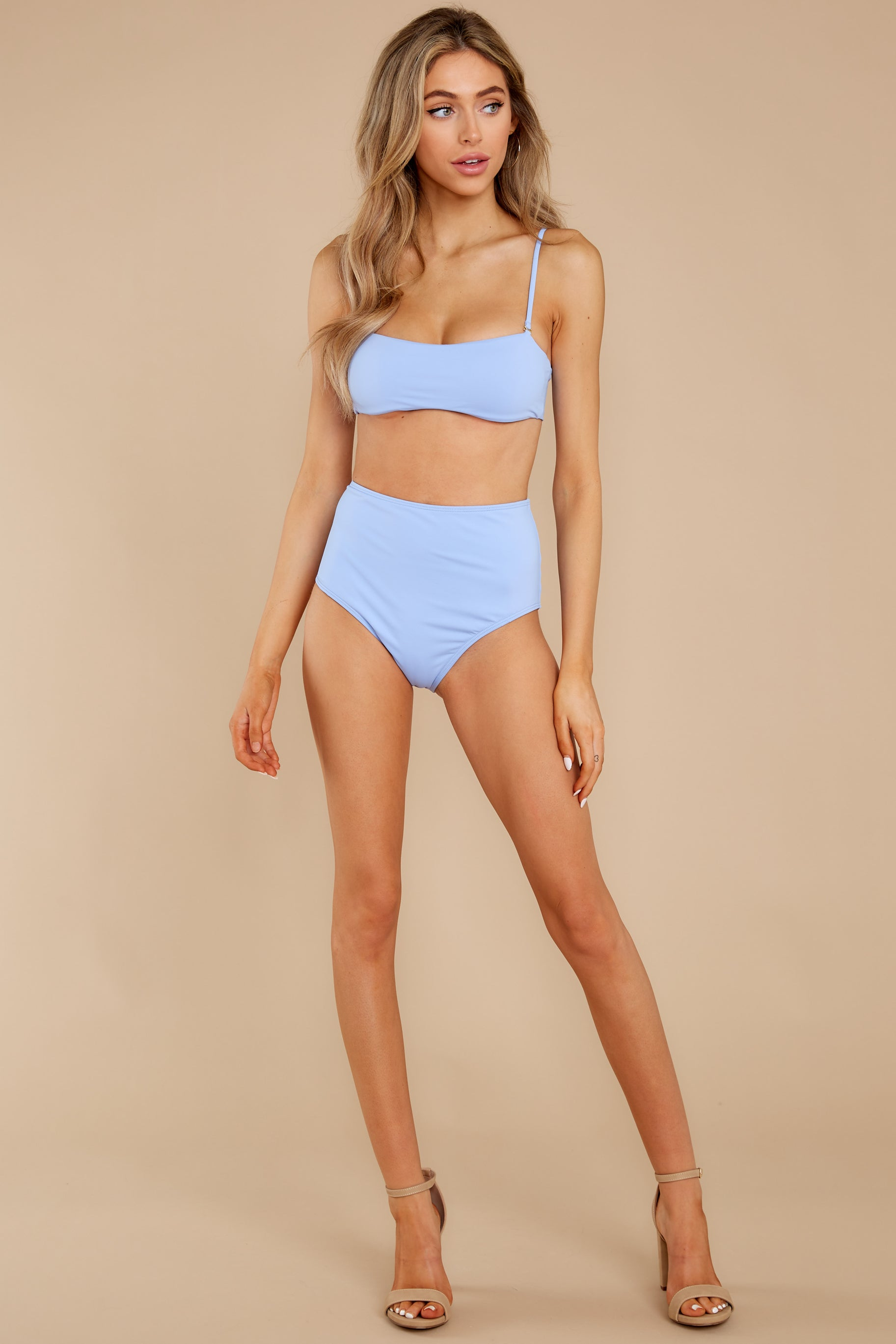 4 Catch The Tide Sky Blue Bikini Top at reddress.com