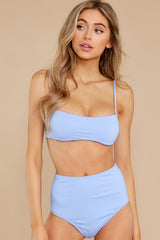 6 Catch The Tide Sky Blue Bikini Top at reddress.com