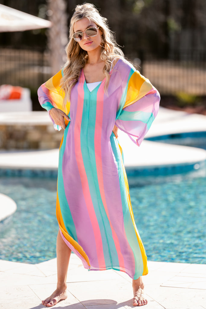 5 Leandra Cancun Multicolor Maxi Dress at reddress.com