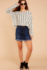 1 Fringe Meet Me In The City Ivory Sweater at reddressboutique.com