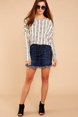 2 Fringe Meet Me In The City Ivory Sweater at reddressboutique.com