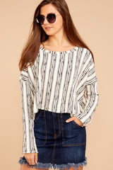 5 Fringe Meet Me In The City Ivory Sweater at reddressboutique.com