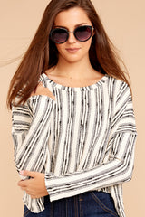 4 Fringe Meet Me In The City Ivory Sweater at reddressboutique.com