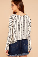 3 Fringe Meet Me In The City Ivory Sweater at reddressboutique.com