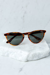 2 Quay Australia Rumours Tortoise Green Sunglasses at reddressboutique.com