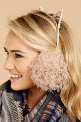 2 Me-WOW Dusty Pink Earmuffs at reddressboutique.com