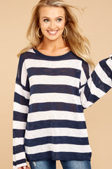 1 Had To Be You Navy Stripe Top at reddressboutique.com