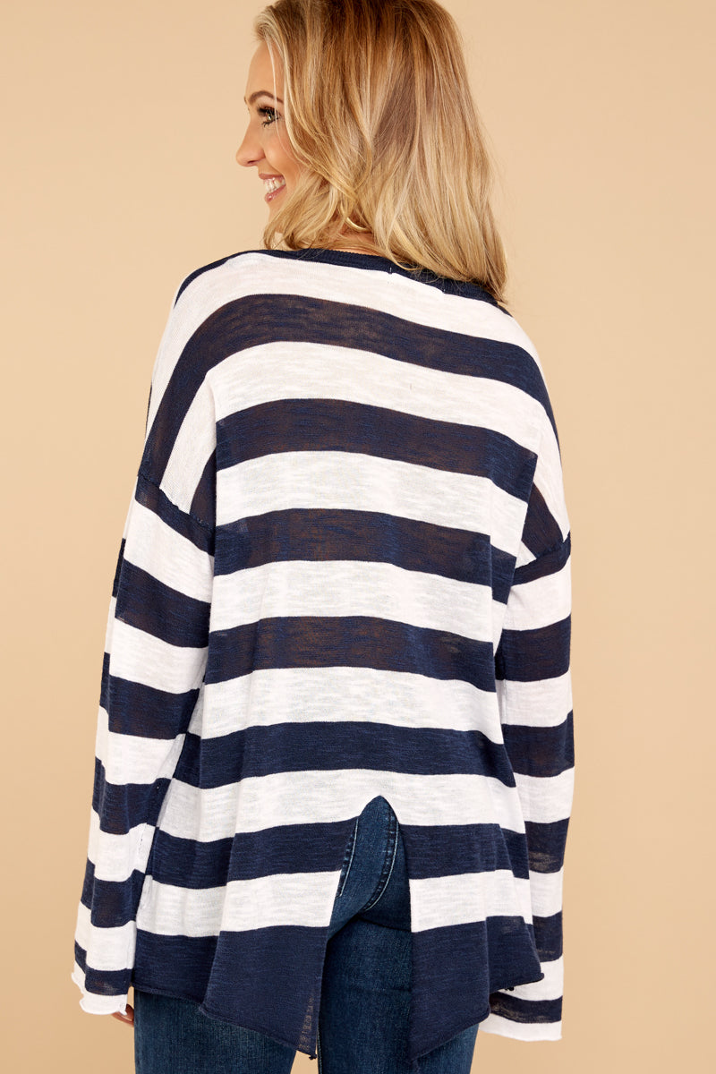 4 Had To Be You Navy Stripe Top at reddressboutique.com