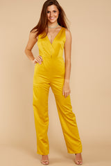 3 Legends Only Yellow Jumpsuit at reddressboutique.com