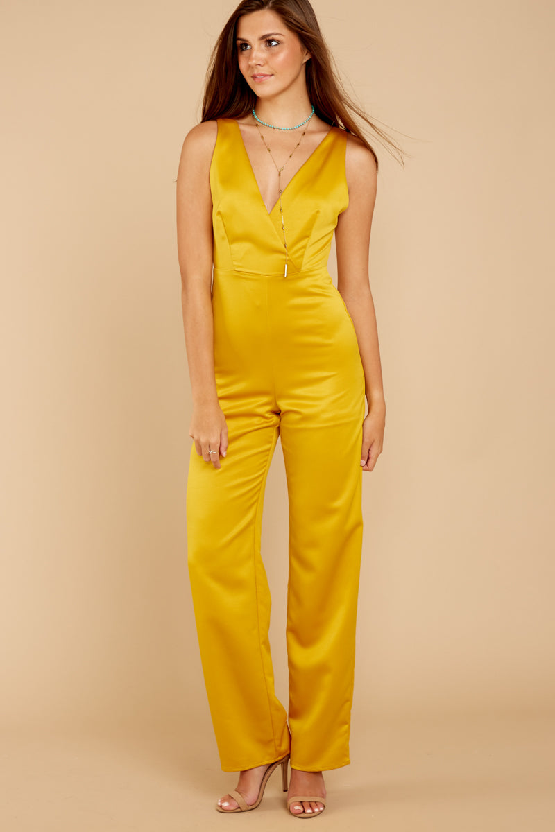 1 Legends Only Yellow Jumpsuit at reddressboutique.com