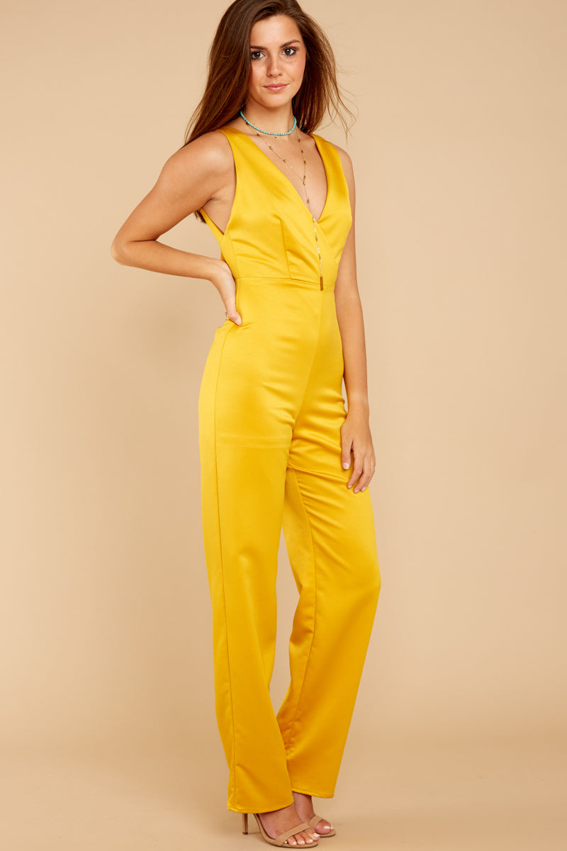 2 Legends Only Yellow Jumpsuit at reddressboutique.com