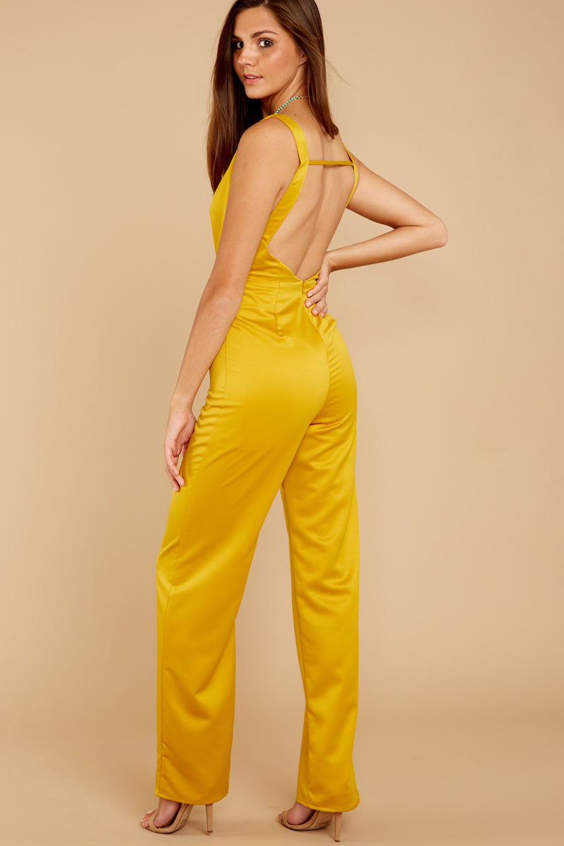 5 Legends Only Yellow Jumpsuit at reddressboutique.com