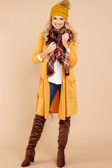 2 Fall Motto Goldenrod Yellow Cardigan at reddressboutique.com