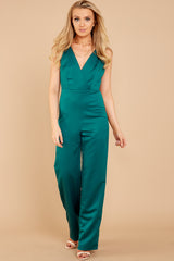 3 Legends Only Green Jumpsuit at reddressboutique.com