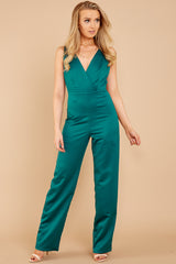 2 Legends Only Green Jumpsuit at reddressboutique.com