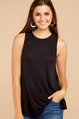 1 Old Favorite Black Top at reddressboutique.com