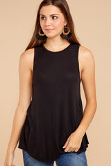 2 Old Favorite Black Top at reddressboutique.com