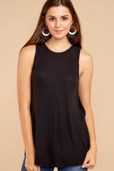 4 Old Favorite Black Top at reddressboutique.com