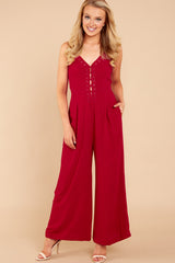 1 More Than A Fling Red Jumpsuit at reddressboutique.com