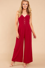 4 More Than A Fling Red Jumpsuit at reddressboutique.com