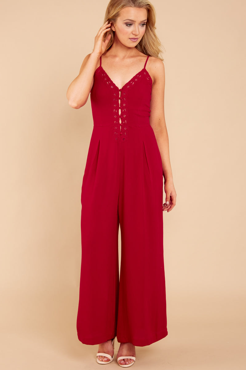3 More Than A Fling Red Jumpsuit at reddressboutique.com