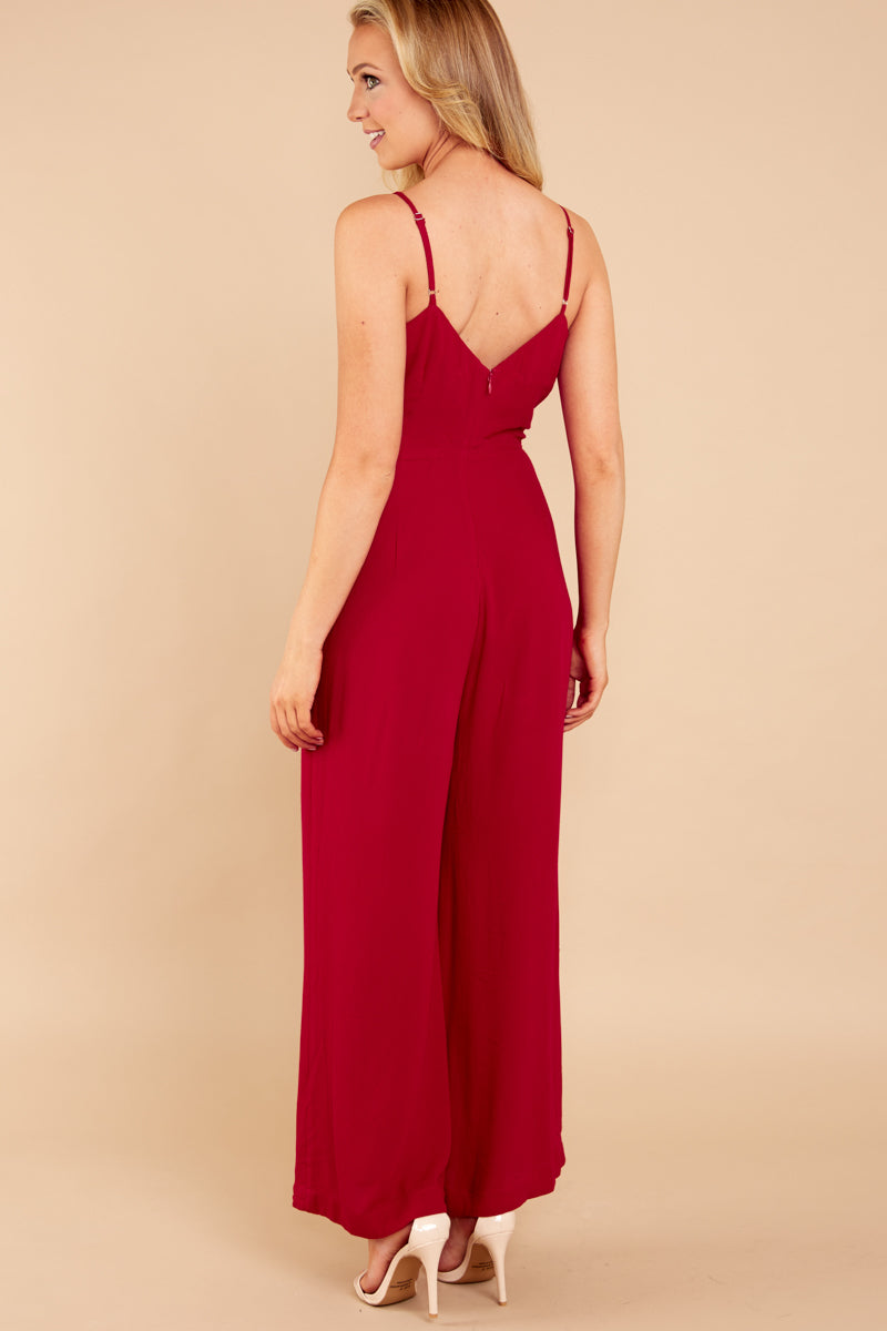 5 More Than A Fling Red Jumpsuit at reddressboutique.com