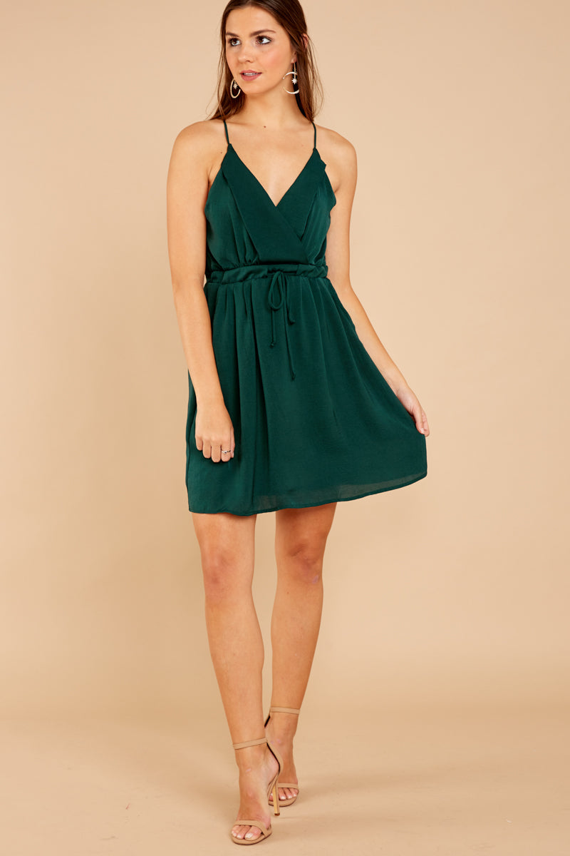 3 Greatest There Is Pine Green Dress at reddressboutique.com