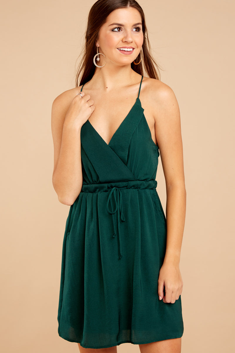 2 Greatest There Is Pine Green Dress at reddressboutique.com