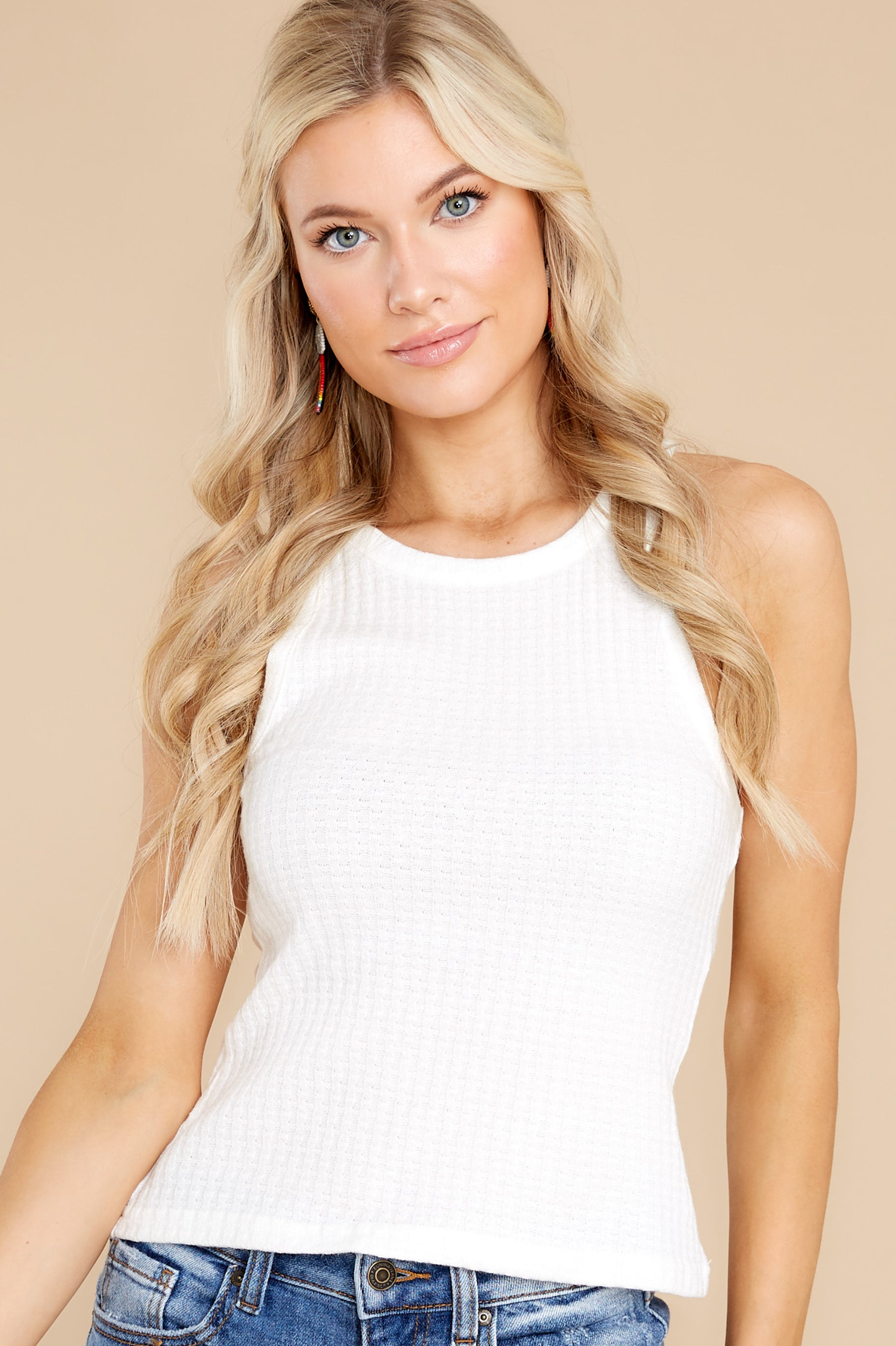 8 Here With You White Tank Top at reddress.com