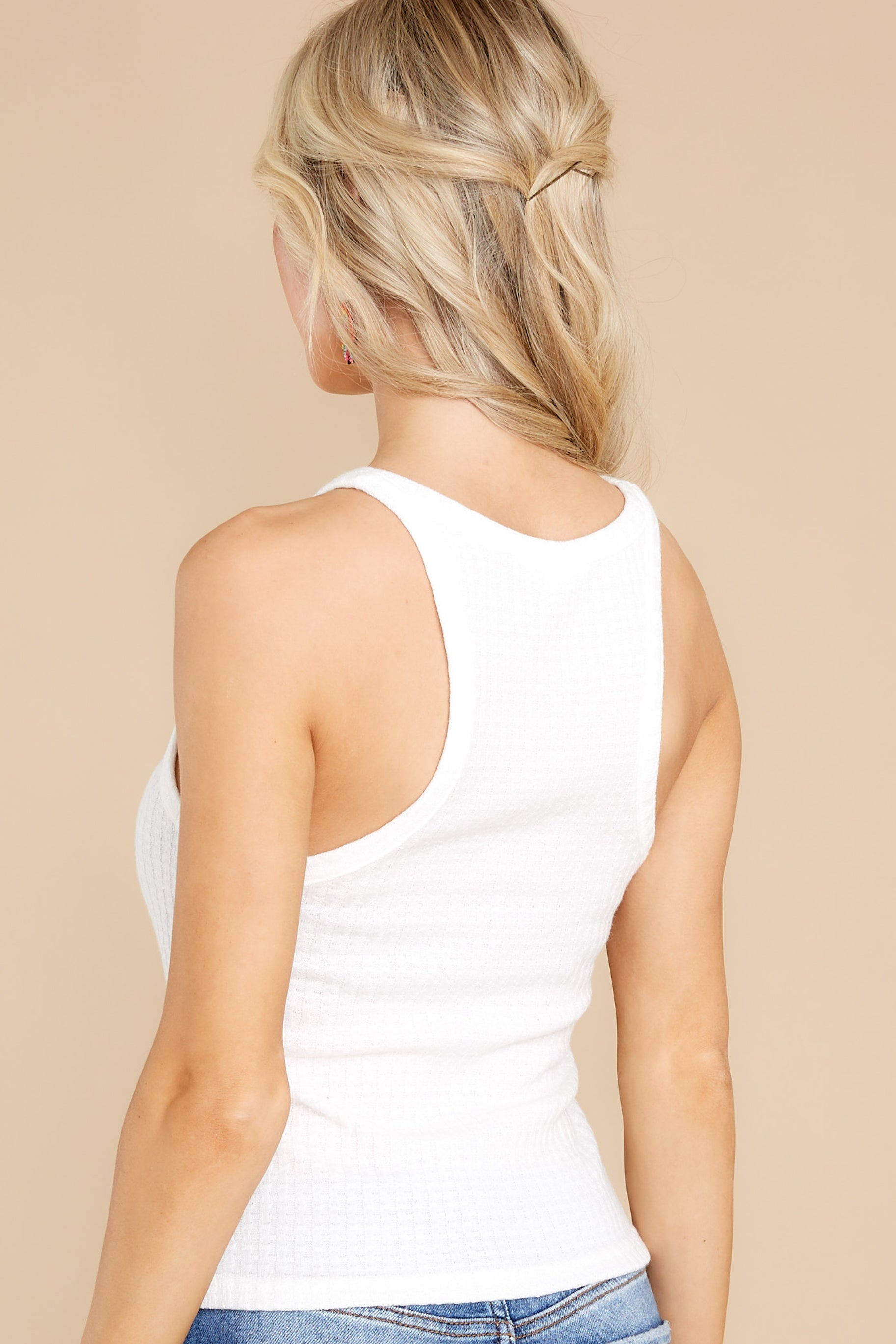 9 Here With You White Tank Top at reddress.com