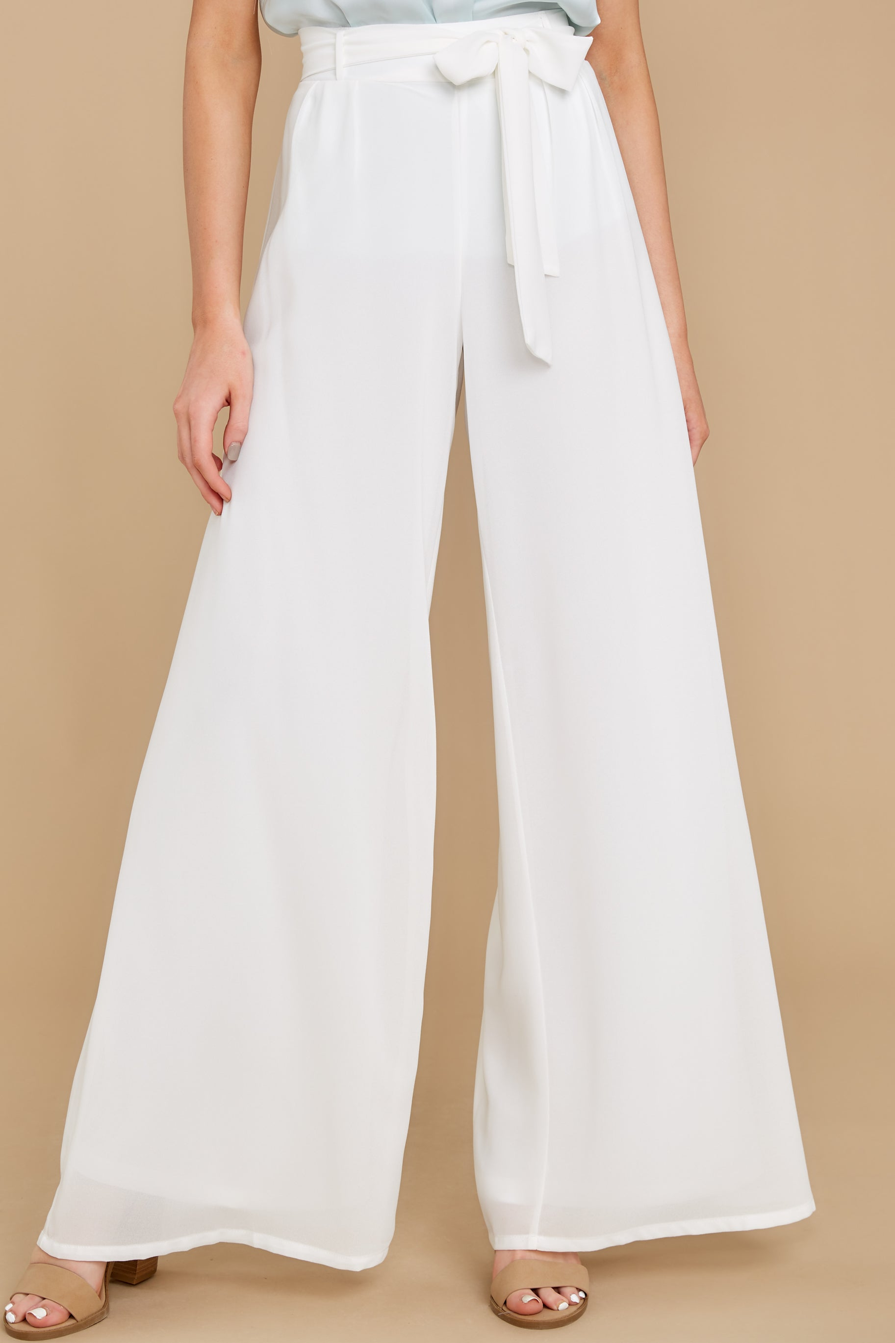 1920s Style Women's Pants, Trousers, Knickers, Tuxedo Goal Getter Ivory Pants $36.00 AT vintagedancer.com