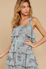 3 The Story's Not Over Light Blue Floral Print Maxi Dress at reddress.com