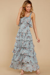 6 The Story's Not Over Light Blue Floral Print Maxi Dress at reddress.com