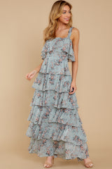 7 The Story's Not Over Light Blue Floral Print Maxi Dress at reddress.com