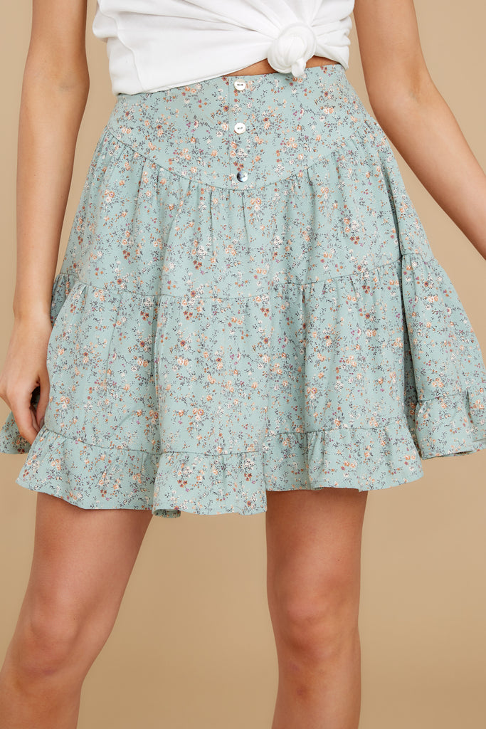 1 Heat Wave White Floral Print Mini Skirt at reddress.com