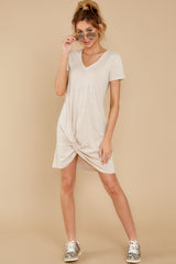 4 The Oatmeal Triblend Side Knot Dress at reddress.com