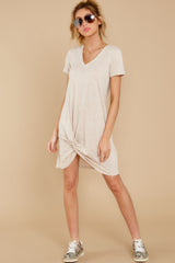 3 The Oatmeal Triblend Side Knot Dress at reddress.com