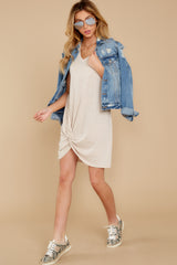 7 The Oatmeal Triblend Side Knot Dress at reddress.com